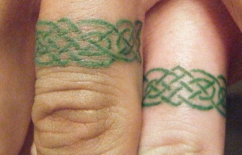 Celtic Wedding Ring Tattoo: Wedding Rings For Women: 20 Best Wedding Ring Tatoo Ideas