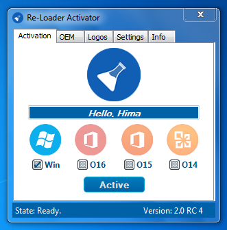 this is application the loader activation all versions of windows and office 2010 office 2013 office 2015 2016 tp it is possible to change the oem