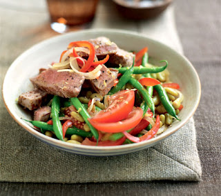 Tuna with Moroccan Spices and Bean Salad Recipe