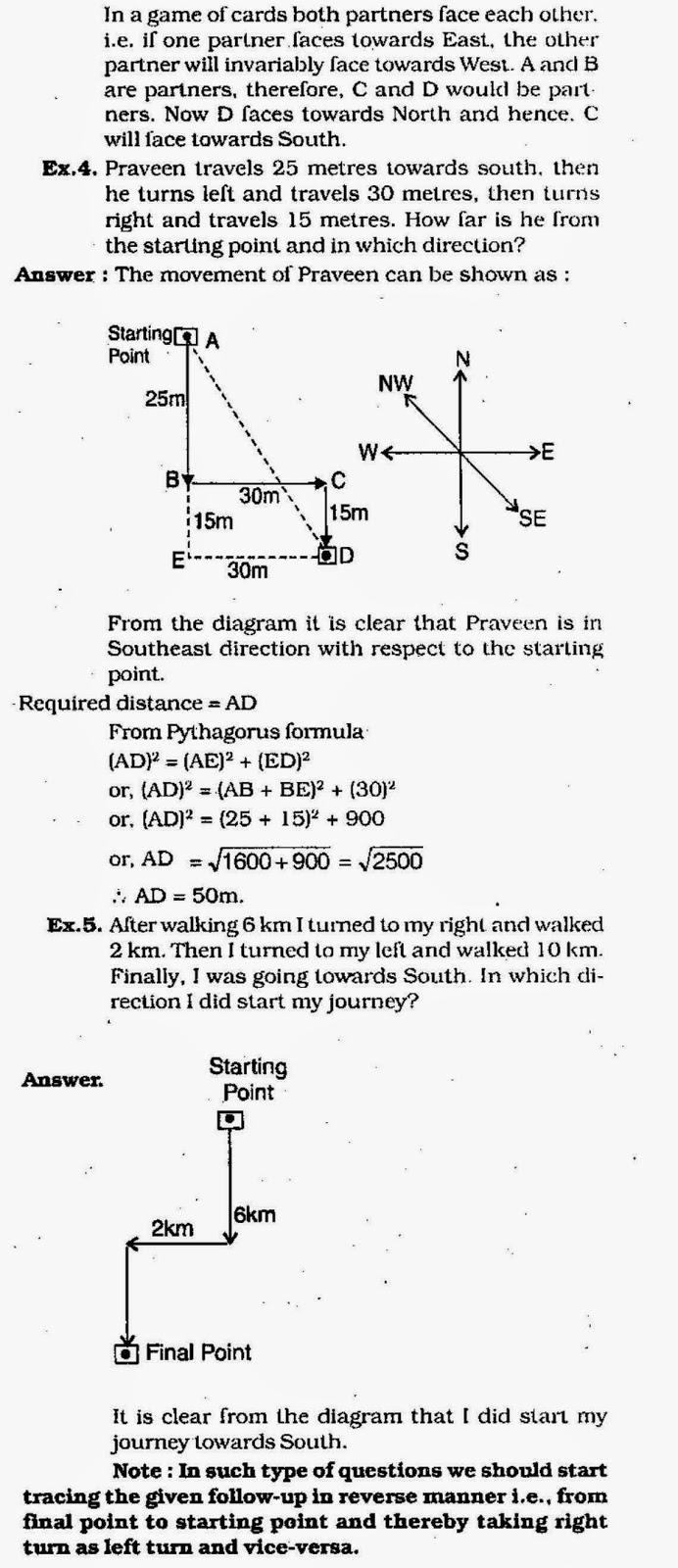 Direction Sense Reasoning SBI IBPS Clerk