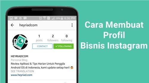 Cara Membuat Akun Profil Bisnis Instagram