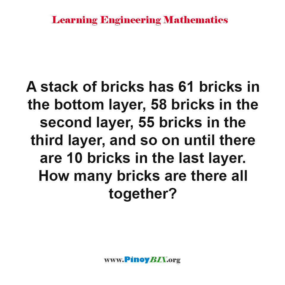 How many bricks are there all together?