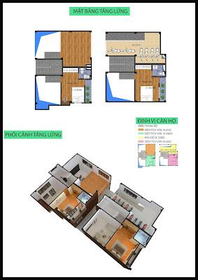 Mặt bằng tầng lửng chung cư mini Minh Đại Lộc 4