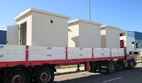 imagen del transporte de casetas en camión especial