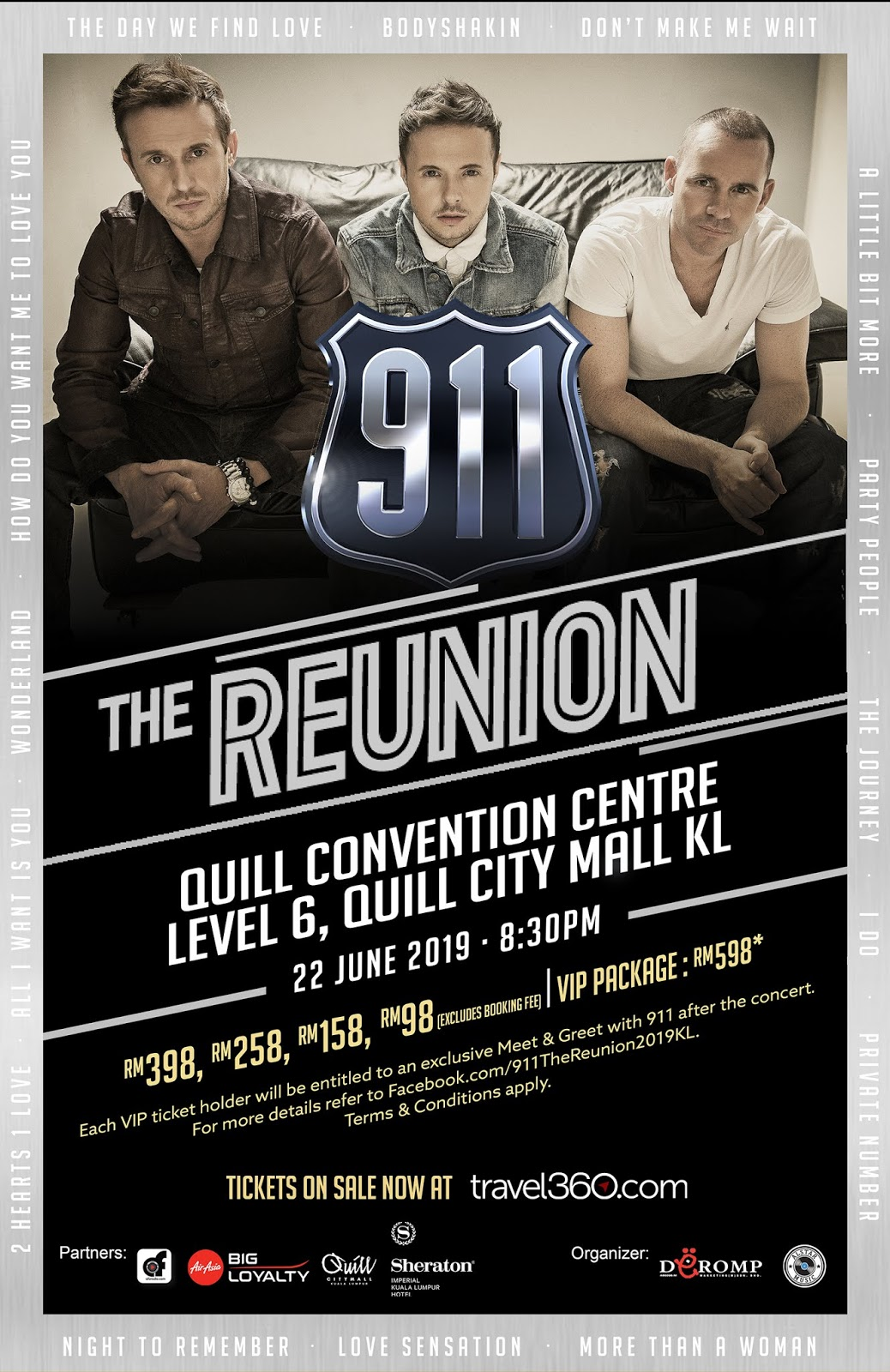 aa0b2a48080 Tickets to the most exciting Reunion party this year with 911, taking place  on 22 June, will be on sale from 10AM on 18 April 2019 onwards.