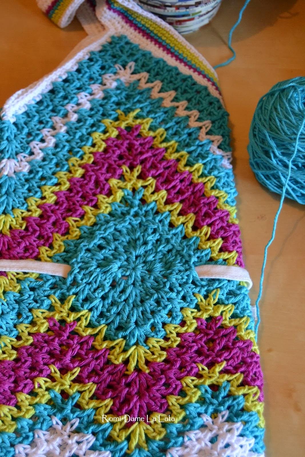 TRICO y CROCHET-madona-mía: Vestido a crochet zig zag con patrón