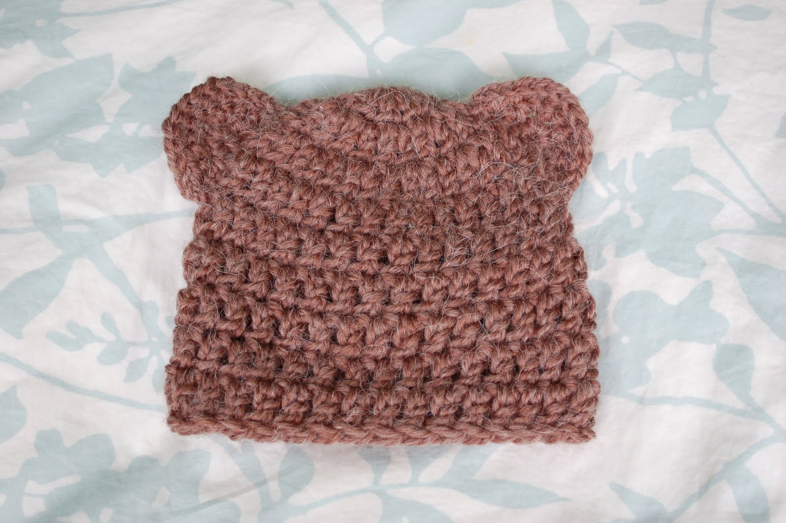 a3fec508143 Alli Crafts  Free Pattern  Fuzzy Bear Hat With Ears - 6 months