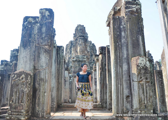 exploring the Bayon temple of Angkor Thom