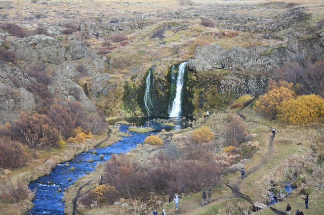 Gjáin Gorge in Iceland features remarkable rock formations, waterfalls and rapids.