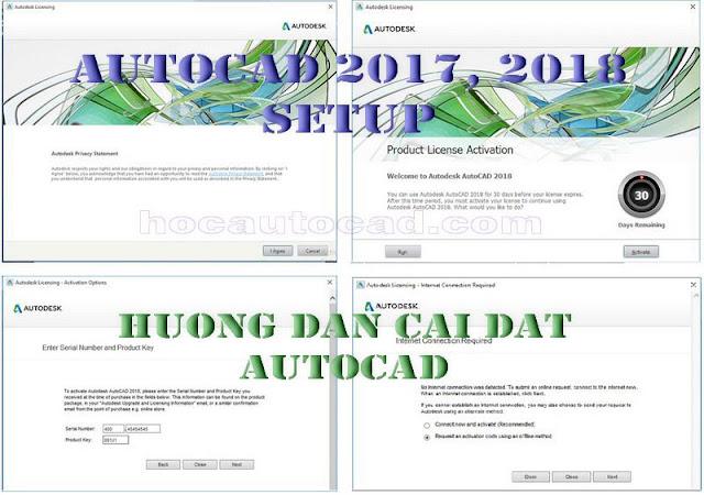 Hướng dẫn cài đặt Autocad 2018