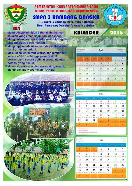 gambar contoh desain kalender sekolah tema peserta didik
