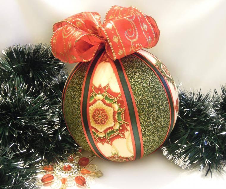 ms lindos diseos de esferas navideas con retazos de tela