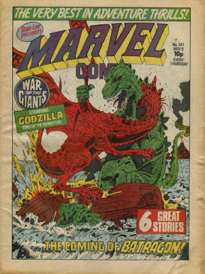 Marvel Comic #341, Godzilla