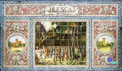 Plaza de España - Sevilla - Azulejo de Huesca - Tríptico