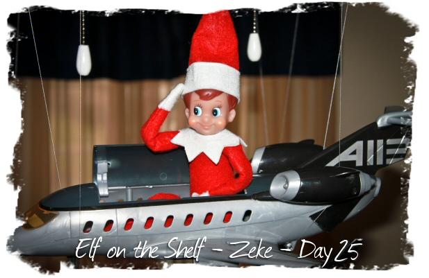 Zeke An Elf On The Shelf Zeke 2011 Day 25 Flying