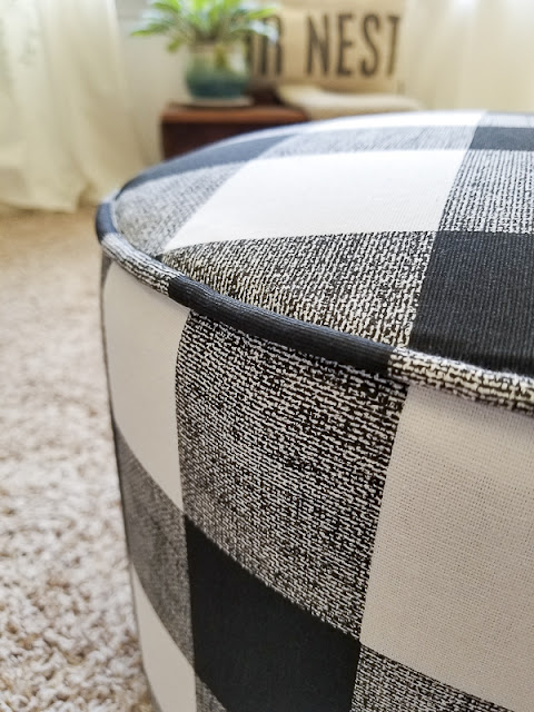 buffalo check ottoman recover diy