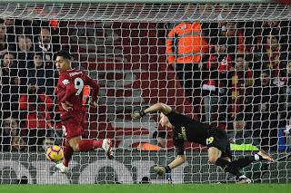 Roberto Firmino scored a hat-trick,