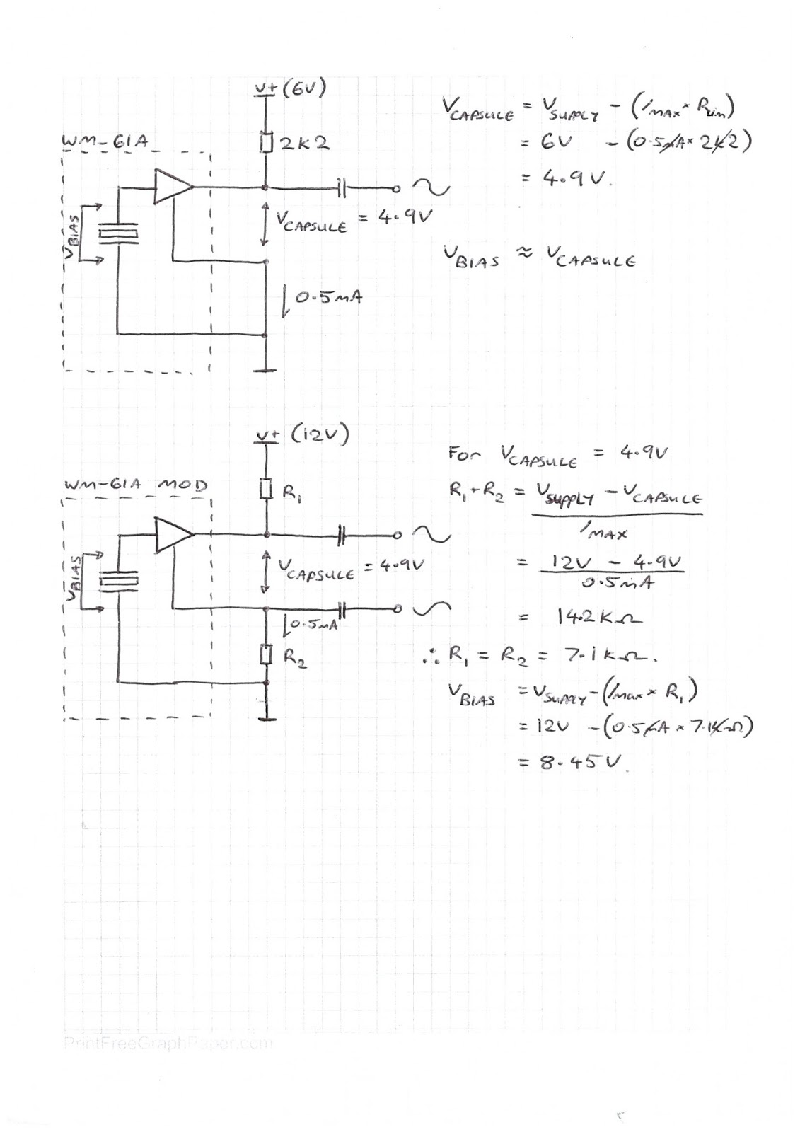 Levy Sound Design 48v Phantom Powered Electret Condenser Microphone Is The Schematic Circuit Diagram For Modification Of Panasonic Capsule Permits A Much Greater Bias Voltage Across Microphones Capacitive Plate While Retaining Suitable