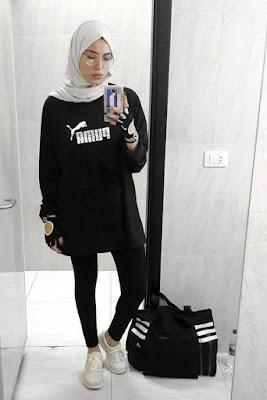 wearing hijab to gym