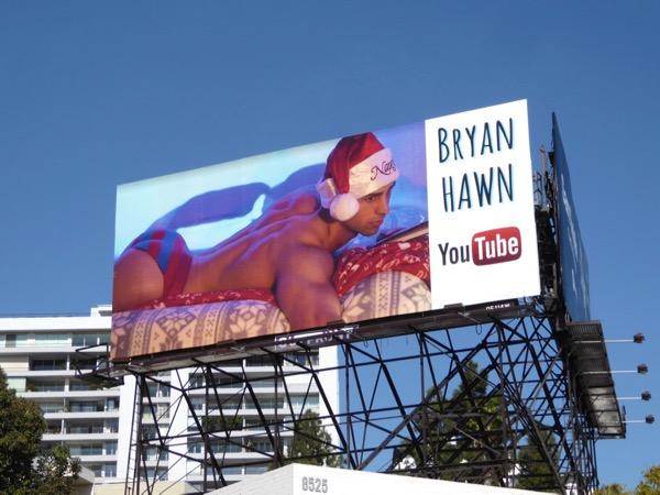 Naughty Bryan Hawn billboard WEHO