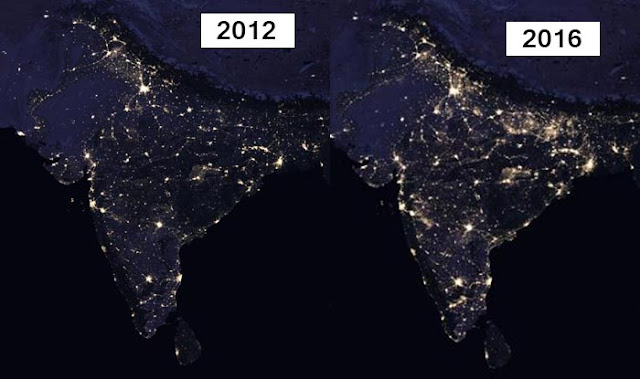 NASA Releases Stunning Images of India At Night From Space