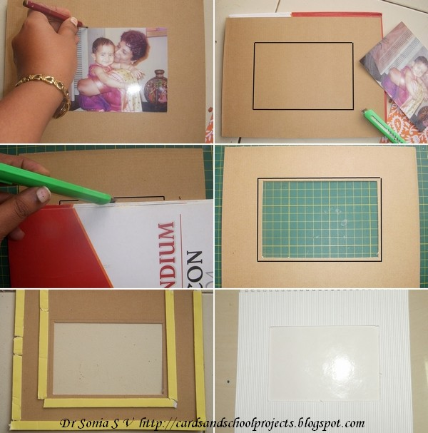 Cards ,Crafts ,Kids Projects: Photo frame Tutorial and Handmade Gift Set