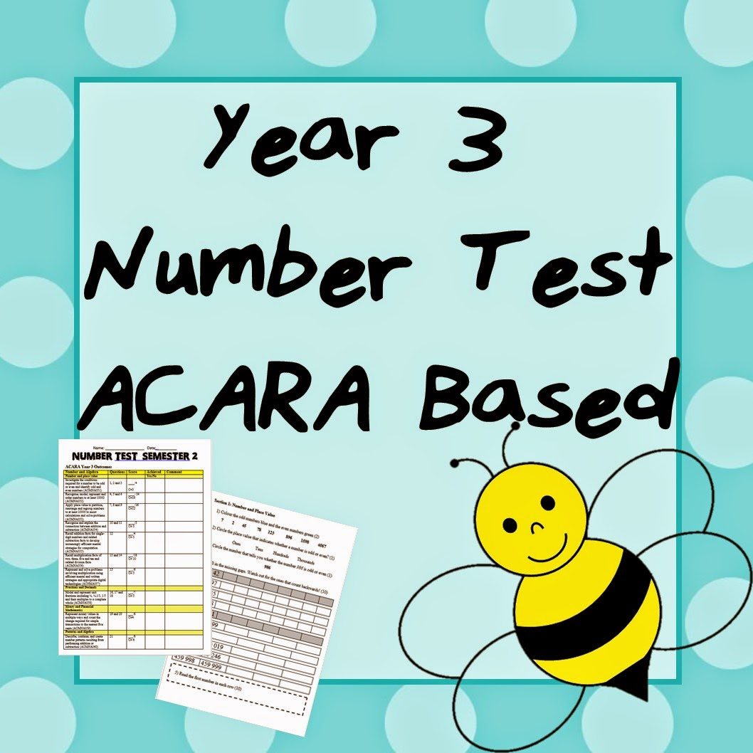http://www.teacherspayteachers.com/Product/Year-3-Number-Test-ACARA-Based-1521036