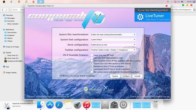 Yosemite de Apple para Windows 3.0 Español