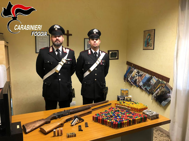 """Gargano, i Carabinieri continuno la """"caccia"""" alle armi detenute illegalmente"""