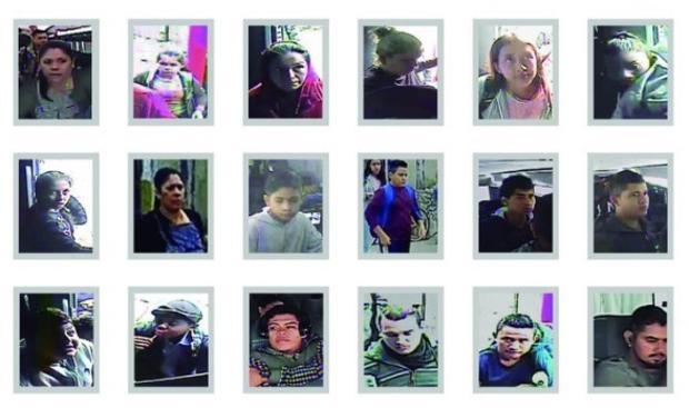 Difunden los rostros de los 26 migrantes levantados en Tamaulipas incluyendo a niños