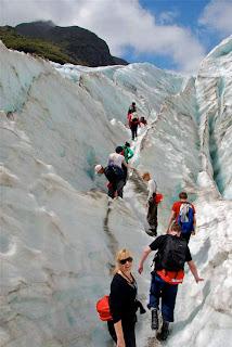 Pat Dunlap Climbing Franz Josef Glacier
