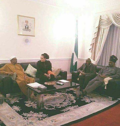 Photo of 'DEAD' Buhari Discussing With Gov. Amosun In London Goes Viral On Social Media