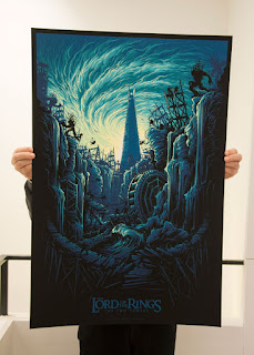 Dan Mumford Lord of the Rings Two Towers movie poster