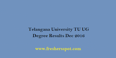 Telangana University Degree Results Dec 2016