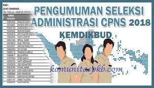 Seleksi Kompetensi Dasar (SKD) Calon Pegawai Negeri Sipil  (CPNS) Kementerian Pendidikan dan Kebudayaan Tahun 2018