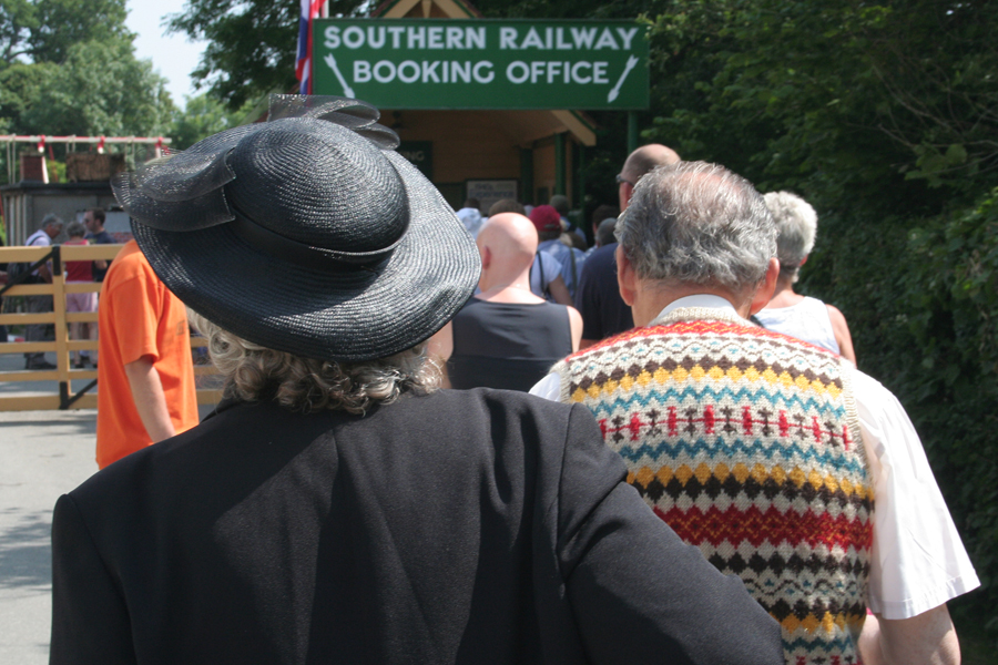 Havenstreet Railways 1940's weekend 2013  Waiting to get in