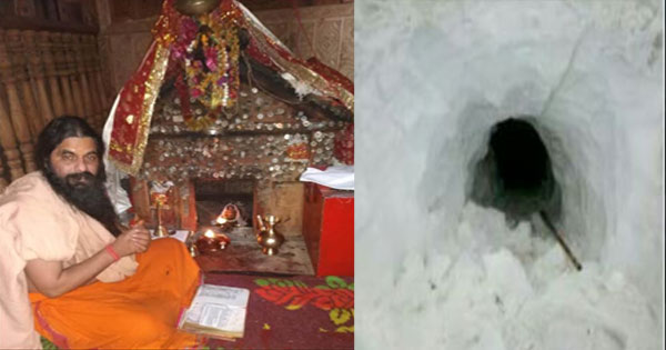 12 फुट बर्फ के बावजूद चूड़धार चोटी पर जारी नियमित पूजा-अर्चना, सुरंग बनती है जरिया