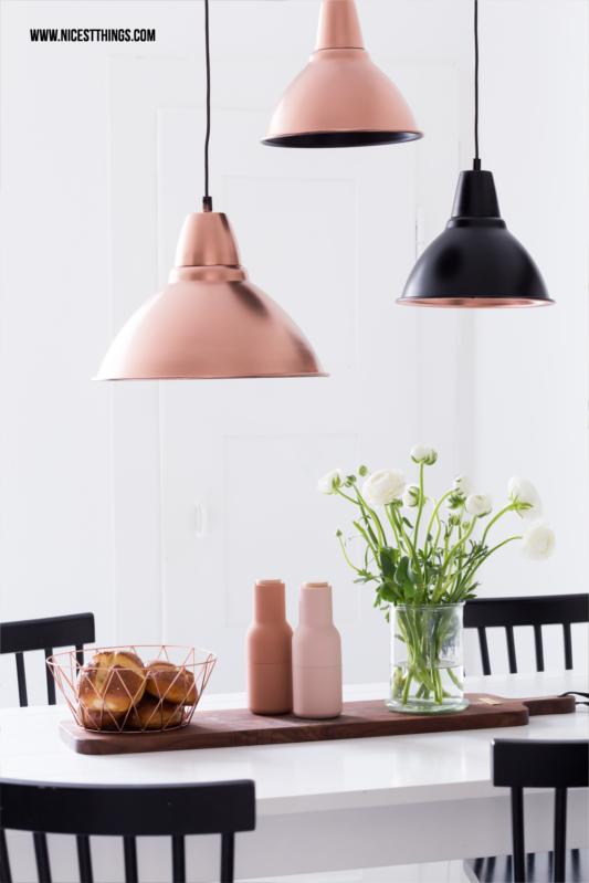 DIY Lampenschirm Kupfer Leuchten mit Sprühfarbe lackieren