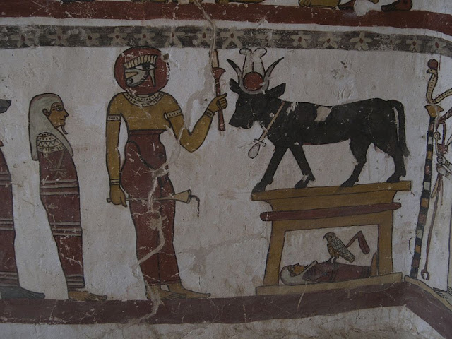Paintings from the tomb of Petosiris at Muzawaka (XXXII)