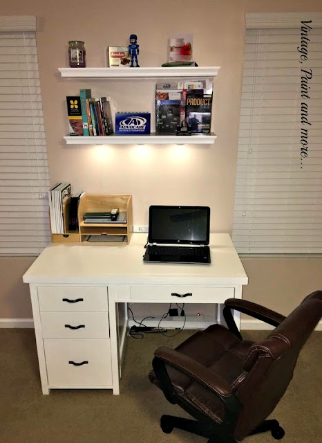 finished diy desk in it's new home
