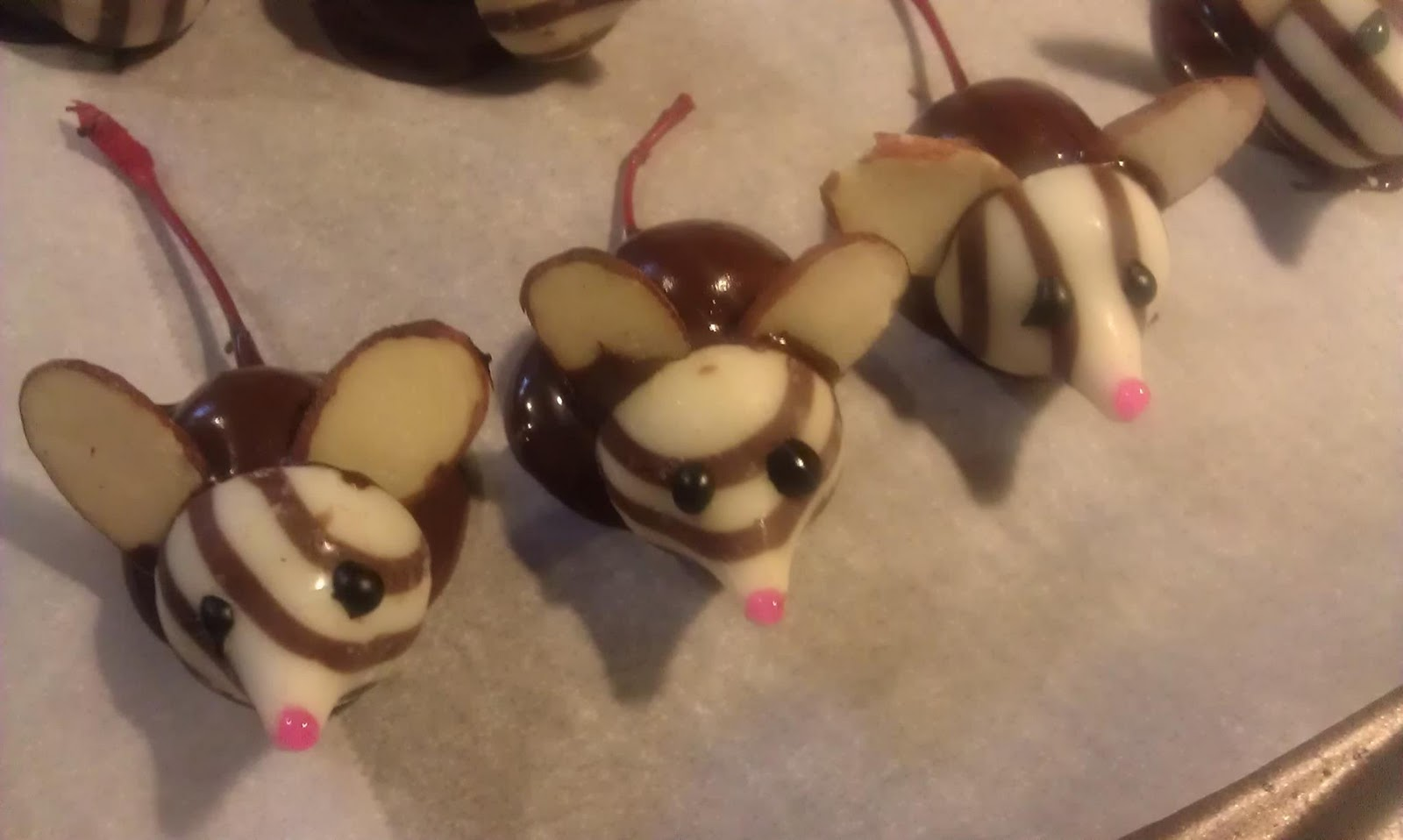 Chocolate Covered Cherry Christmas Mice - grace grits and gardening
