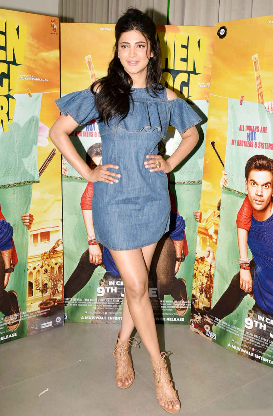 Shruti Haasan and Rajkummar Rao Promotional Interview for 'Behen Hogi Teri' at Morya Classic in Mumbai