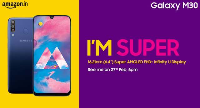 Samsung Galaxy M30 With Tripal Camera Setup To Launch On 27 February In India,See Details
