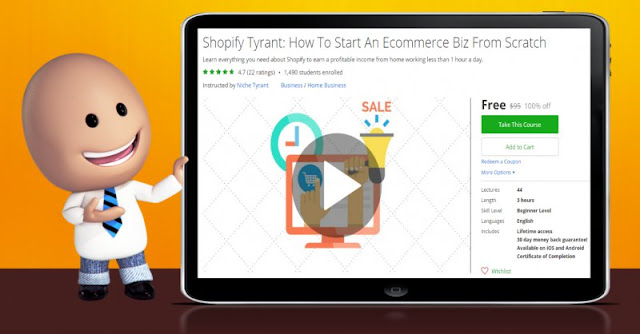 [100% Off] Shopify Tyrant: How To Start An Ecommerce Biz From Scratch| Worth 95$