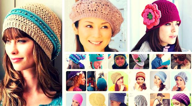 118 Gorros y Sombreros a Crochet - Patrones para Descargar