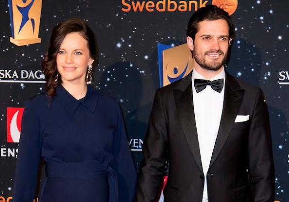 Prince Carl Philip and Princess Sofia of Sweden attended Swedish Sports Gala (Svenska idrottsgalan) organized by Swedish Sports Academy in Stockholm Ericsson Globe Arena