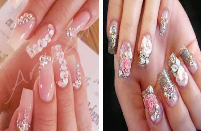 Pretty Application To Acrylic Nail Art Designs