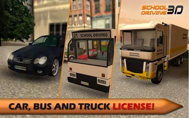 School Driving 3D - Car, Bus and Truck License!