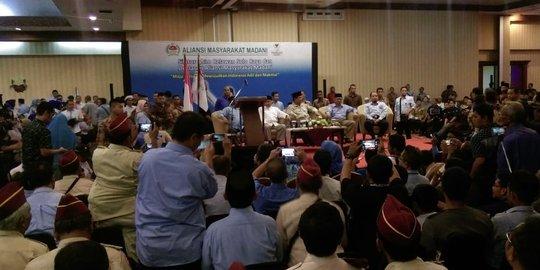 Hadiri Deklarasi Relawan di Solo, Prabowo Ngaku Ketakutan