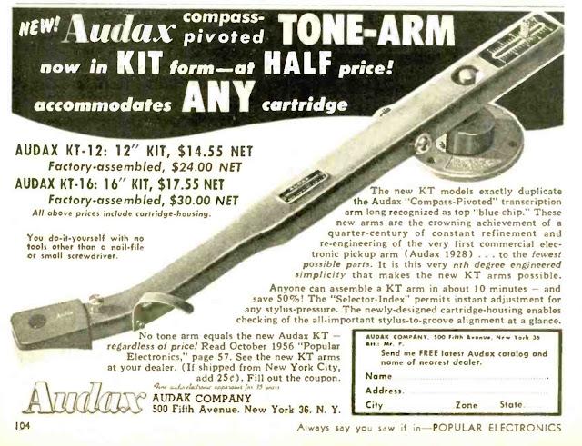 Audax Tonearm Ad